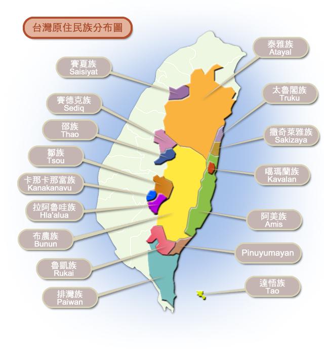 台灣原住民族分佈